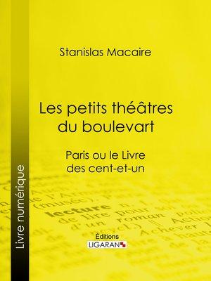 cover image of Les petits théâtres du boulevart