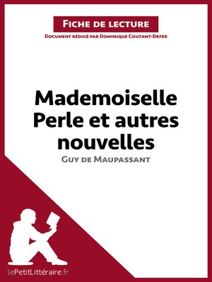 cover image of Mademoiselle Perle et autres nouvelles de Maupassant (Fiche de lecture)