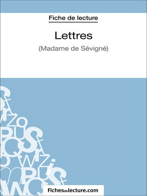 cover image of Lettres
