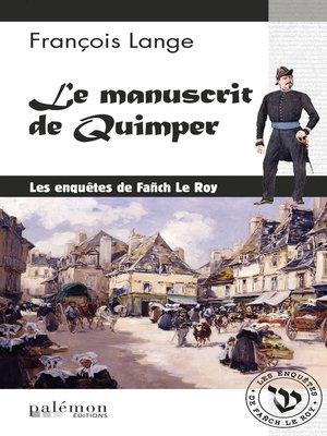 cover image of Le manuscrit de Quimper