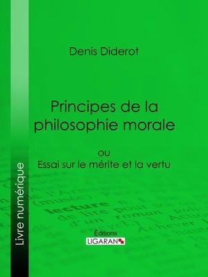 cover image of Principes de la philosophie morale