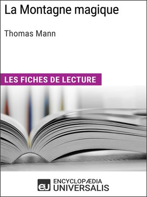 cover image of La Montagne magique de Thomas Mann