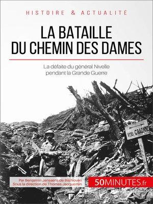 cover image of La bataille du Chemin des Dames