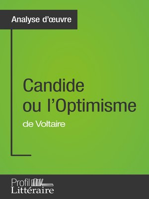 cover image of Candide ou l'Optimisme de Voltaire (Analyse approfondie)