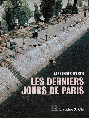 cover image of Les derniers jours de Paris