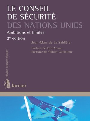 cover image of Le Conseil de sécurité des Nations Unies