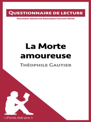 cover image of La Morte amoureuse de Théophile Gautier