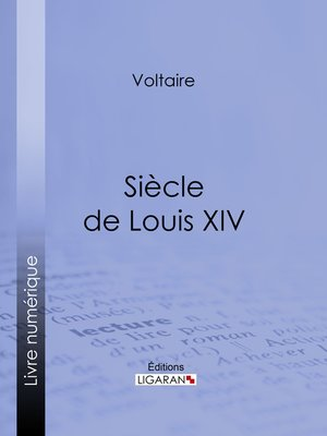 cover image of Siècle de Louis XIV