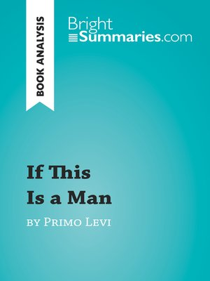 cover image of If This Is a Man by Primo Levi: Summary, Analysis and Reading Guide