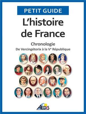 cover image of L'histoire de France