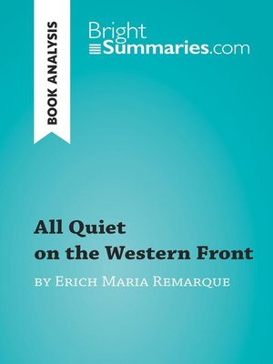 cover image of All Quiet on the Western Front by Erich Maria Remarque (Book Analysis)