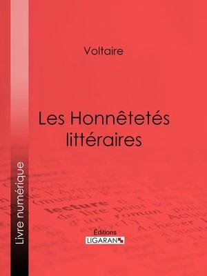 cover image of Les Honnêtetés littéraires
