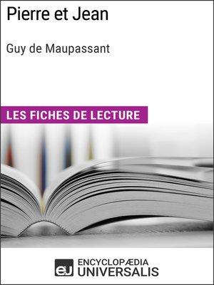 cover image of Pierre et Jean de Guy de Maupassant
