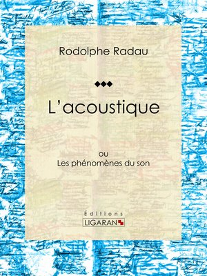 cover image of L'acoustique