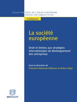 cover image of La société européenne