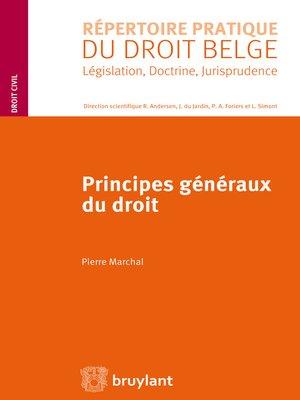 cover image of Principes généraux du droit