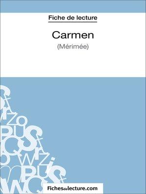 cover image of Carmen de Prosper Mérimée (Fiche de lecture)