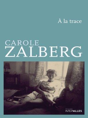 cover image of À la trace
