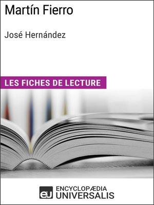 cover image of Martín Fierro de José Hernández