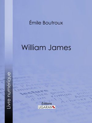 cover image of William James