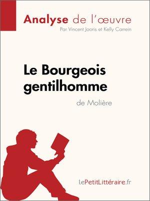 cover image of Le Bourgeois gentilhomme de Molière (Analyse de l'oeuvre)