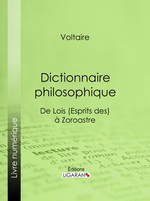 cover image of Dictionnaire philosophique