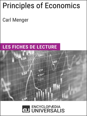 cover image of Principles of Economics de Carl Menger
