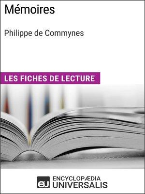 cover image of Mémoires de Philippe de Commynes