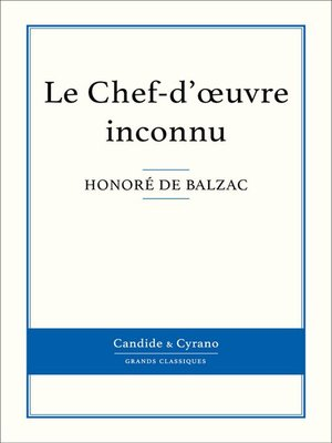 cover image of Le Chef-d'oeuvre inconnu