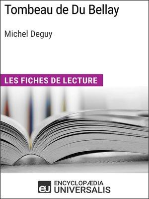 cover image of Tombeau de Du Bellay de Michel Deguy