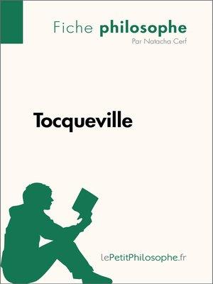 cover image of Tocqueville--Fiche philosophe