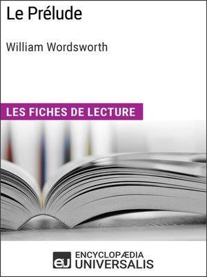 cover image of Le Prélude de William Wordsworth