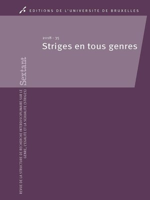 cover image of Striges en tous genres