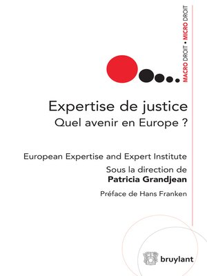 cover image of Expertise de justice