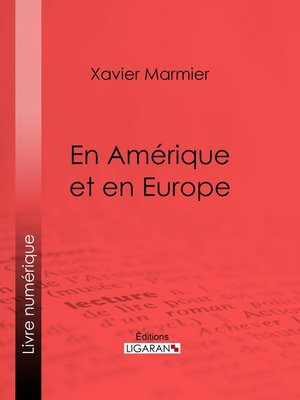 cover image of En Amérique et en Europe