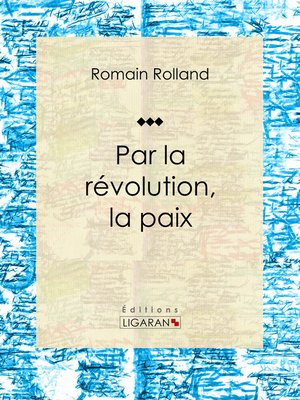cover image of Par la révolution, la paix