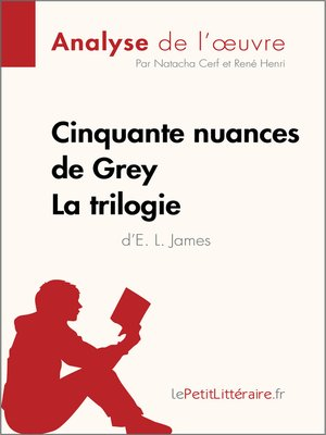 cover image of Cinquante nuances de Grey d'E. L. James--La trilogie (Analyse de l'oeuvre)