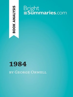 cover image of Book Analysis: 1984 by George Orwell