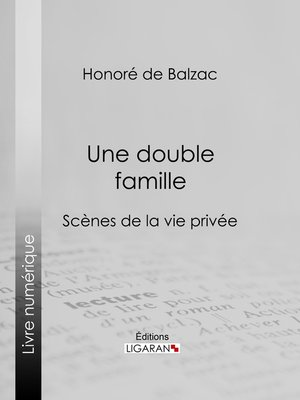 cover image of Une double famille