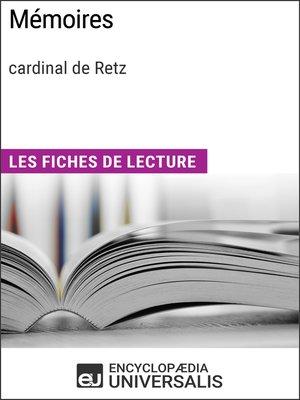 cover image of Mémoires de Jean François Paul de Gondi, cardinal de Retz