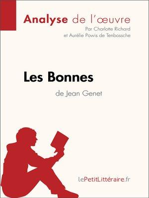 cover image of Les Bonnes de Jean Genet--Fiche de lecture