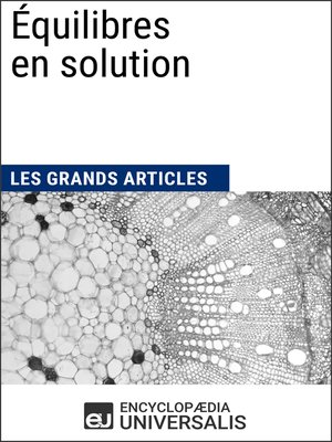 cover image of Équilibres en solution