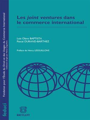 cover image of Les joint ventures dans le commerce international