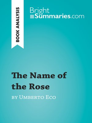 cover image of The Name of the Rose by Umberto Eco (Book Analysis)