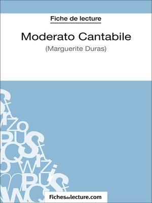 cover image of Moderato Cantabile de Marguerite Duras (Fiche de lecture)