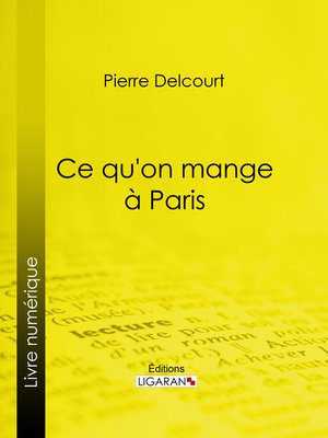 cover image of Ce qu'on mange à Paris
