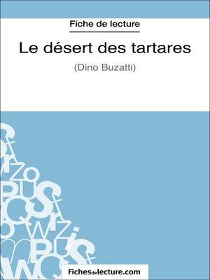 cover image of Le désert des tartares