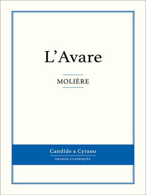 cover image of L'Avare