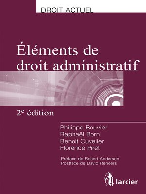cover image of Eléments de droit administratif