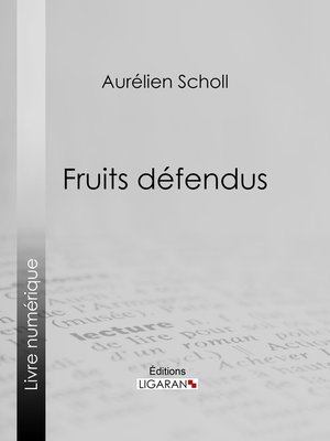 cover image of Fruits défendus